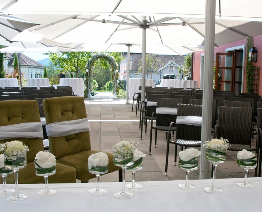 Hochzeit Terrasse